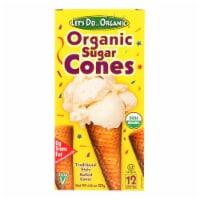Let's Do Organics Ice Cream Cones - Sugar - Case of 12 - 4.6 oz.