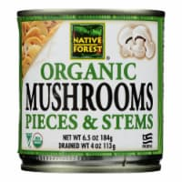 Native Forest Organic Mushrooms - Pieces and Stems - Case of 12 - 4 oz. - Case of 12 - 4 OZ each