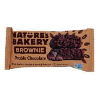 Nature's Bakery Double Chocolate Brownies - Chocolate - Case of 12 - 2 oz. - Case of 12 - 2 OZ each