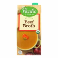 Pacific Natural Foods Beef Broth - Case of 12 - 32 Fl oz.