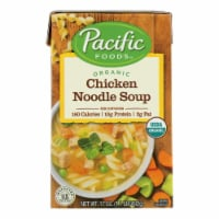 Pacific Natural Foods - Soup Chicken Noodle - Case of 12-17 OZ - Case of 12 - 17 OZ each