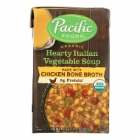 Pacific Natural Foods - Organic Italian Vegetable Soup Chicken Bone Broth - Case of 12 17 OZ