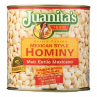 Juanita's Foods - Hominy - Mexican Style - Case of 12 - 25 oz.