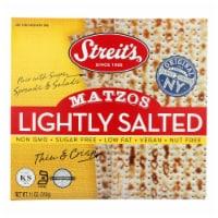 Streit's Matzos - Lightly Salted - Case of 12 - 11 oz. - Case of 12 - 11 OZ each