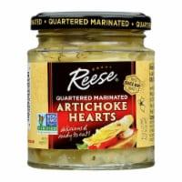 Reese Marinated Artichoke Hearts - Quartered - Case of 12 - 7.5 oz.