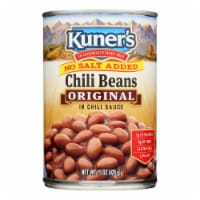 Kuner No Salt Added Chili Beans In Chili Sauce - Case of 12 - 15 OZ - Case of 12 - 15 OZ each