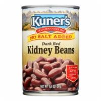 Kuner - Dark Red Kidney Beans - No Salt Added - Case of 12 - 15 oz. - Case of 12 - 15.5 OZ each