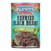 Kuner Refried Black Beans - Case of 12 - 16 OZ - Case of 12 - 16 OZ each
