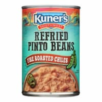 Kuner Refried Pinto Beans w Roasted Chiles - Case of 12 - 16 OZ - Case of 12 - 16 OZ each