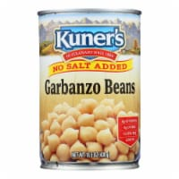 Kuner - Garbanzo Beans - No Salt Added - Case of 12 - 15 oz.