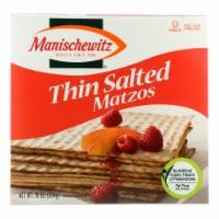Manischewitz - Thin Matzo Cracker - Salted - Case of 12 - 10 oz. - Case of 12 - 10 OZ each