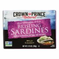 Crown Prince Brisling Sardines - Mediterranean Style - Case of 12 - 3.75 oz. - Case of 12 - 3.75 OZ each
