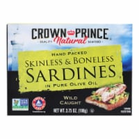 Crown Prince Skinless and Boneless Sardines In Pure Olive Oil - Case of 12 - 3.75 oz. - Case of 12 - 3.75 OZ each