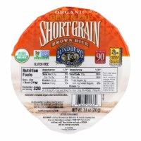 Lundberg Family Farms Organic Short Grain Brown Rice - Case of 12 - 7.4 oz. - Case of 12 - 7.4 OZ each