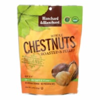 Blanchard and Blanchard Organic Whole Chestnuts - Roasted and Peeled - Case of 12 - 5.2 oz. - Case of 12 - 5.2 OZ each