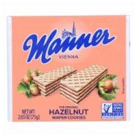 Manner - Wafer Hazelnut - Case of 12 - 2.65 OZ - Case of 12 - 2.65 OZ each