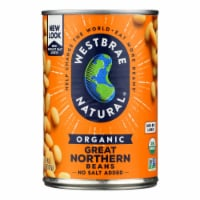 Westbrae Foods Organic Great Northern Beans - Case of 12 - 15 oz. - Case of 12 - 15 OZ each