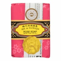 Bee and Flower Soap Rose - 2.65 oz - Case of 12