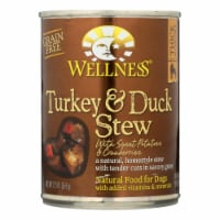 Wellness Pet Products Dog Food - Turkey and Duck w Sweet Potatoes n Cranberries-12Case-12.5oz