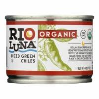 Rio Luna - Organic Green Chiles - Diced - Case of 12 - 4 oz. - Case of 12 - 4 OZ each