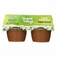 Vermont Village Organic Applesauce - Unsweetened - Case of 12 - 4 oz. - Case of 12 - 4/4 OZ each