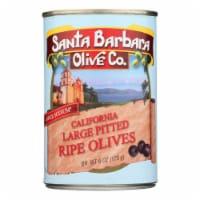 Santa Barbara Pitted Olives - Large Black - Case of 12 - 5.75 oz. - Case of 12 - 5.75 OZ each