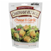 Chatham Village, Croutons, Cheese & Garlic Large Cut  - Case of 12 - 5 OZ