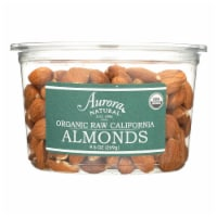 Aurora Natural Products - Organic Raw California Almonds - Case of 12 - 9.5 oz. - Case of 12 - 9.5 OZ each