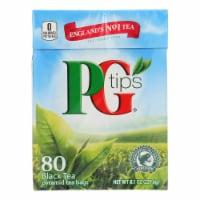 PG Tips Black Tea - Pyramid - Case of 12 - 80 Bags - Case of 12 - 80 BAG each