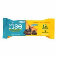 Rise Bar Protein Bar - Crunchy Carob Chip - Case of 12 - 2.1 oz