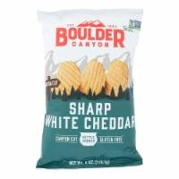 Boulder Canyon Natural Foods - Kettle Chips Wht Cheddar - Case of 12 - 6 OZ - Case of 12 - 6 OZ each