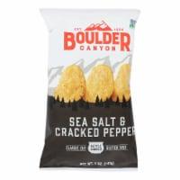 Boulder Canyon - Chips - Sea Salt and Cracked Pepper - Case of 12 - 5 oz. - Case of 12 - 5 OZ each