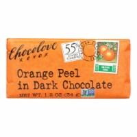 Chocolove Xoxox - Premium Chocolate Bar - Dark - Orange Peel - Mini - 1.2 oz Bars - 12Case - Case of 12 - 1.2 OZ each