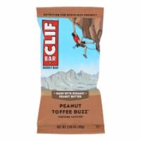Clif Bar - Organic Peanut Toffee Buzz - Case of 12 - 2.4 oz - Case of 12 - 2.4 OZ each