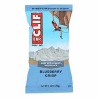 Clif Bar - Organic Blueberry Crisp - Case of 12 - 2.4 oz - Case of 12 - 2.4 OZ each