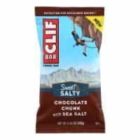 Clif Bar - Sweet and Salty Energy Bar - Chocolate Chunk with Sea Salt - Case of 12 - 2.4 oz.