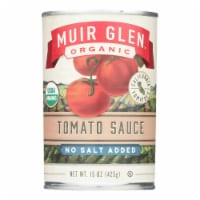 Muir Glen Tomato Sauce No Salt Added - Tomato - Case of 12 - 15 Fl oz. - Case of 12 - 15 FZ each