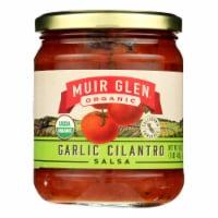 Muir Glen Medium Garlic Cilantro Salsa - Tomato - Case of 12 - 16 oz. - Case of 12 - 16 OZ each