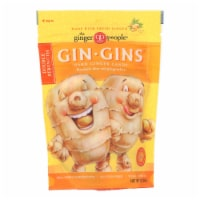 Ginger People - Gin Gins Hard Ginger Candy - Double Strength - Case of 12 - 3 oz. - Case of 12 - 3 OZ each