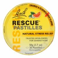 Bach Flower Remedies Rescue Remedy Pastilles Orange Elderflower - 1.7 oz - Case of 12 - Case of 12 - 50 GRM each
