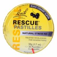 Bach Flower Remedies Rescue Pastilles Black Currant - 1.7 oz - Case of 12 - Case of 12 - 50 GRM each