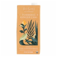 Rishi - Tea Concentrate - Turmeric Ginger Chai - Case of 12 - 32 fl oz. - Case of 12 - 32 FZ each