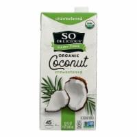 So Delicious Coconut Milk Beverage - Unsweetened - Case of 12 - 32 Fl oz. - Case of 12 - 32 FZ each