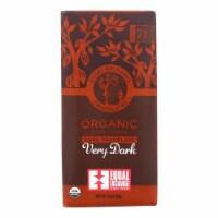 Equal Exchange Organic Chocolate Bar - Very Dark - Case of 12 - 2.8 oz. - Case of 12 - 2.8 OZ each