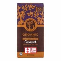 Equal Exchange Organic Milk Chocolate Bar - Caramel Crunch with Sea Salt - Case of 12 -2.8 oz - Case of 12 - 2.8 OZ each