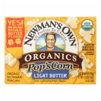Newman's Own Organics Organic Popcorn - Light Butter - Case of 12 - 2.8 oz.