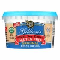 Gillian's Food Plain Bread Crumbs - Original - Case of 12 - 12 oz. - Case of 12 - 12 OZ each