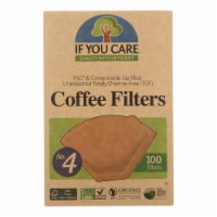 If You Care #4 Cone Coffee Filters - Brown - Case of 12 - 100 Count - Case of 12 - 100 CT each