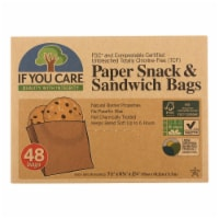 If You Care Bags - Snack and Sandwich - Paper - Unbleached - 48 Count - Case of 12 - Case of 12 - 48 CT each