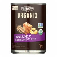 Castor and Pollux Organic Dog Food - Chicken and Potatoes - Case of 12 - 12.7 oz. - Case of 12 - 12.7 OZ each